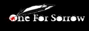Band Logo for ONE FOR SORROW